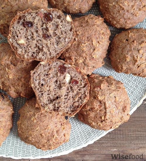 Kanelboller med rosiner og mandler – glutenfri