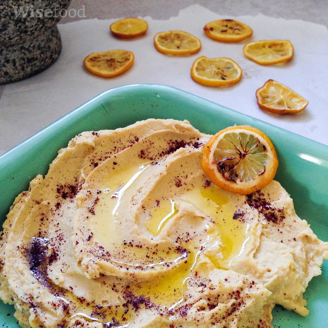 Hummus med bagt citron