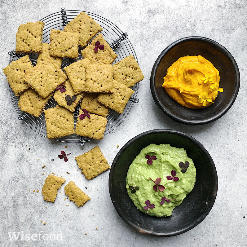 Crackers af kikærter