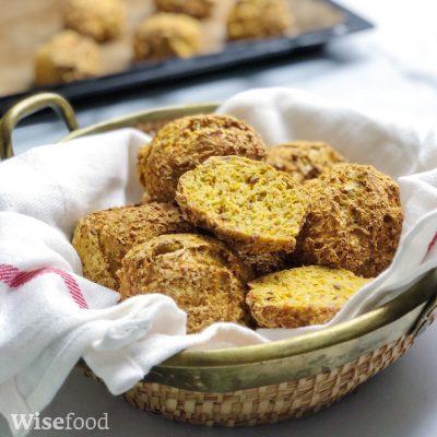 Græskarboller med kerner – glutenfri